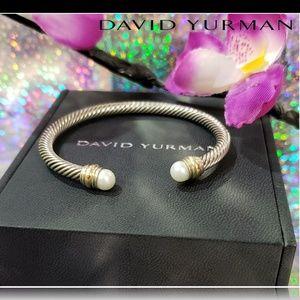 🌺 David Yurman Pearl Cable Cuff Bracelet 🌺